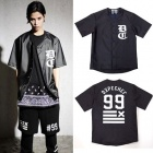 D @ pe Chef style leather short sleeve Baseball button T-shirt (unisex)