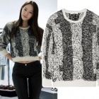 [Small amount X-MAS40% discount] f (x) Crystal, actress Han Hye Jin, co-Ara wear style! Ir @ style dorita crop cable knit