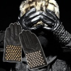 Sheep leather use ☆ celebrity fashion items PR @ SUM sheep leather Studded Gloves (2color)