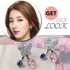 Streaks of MISS A worn under the brand Pictorial ☆ butterfly Swarovski cubic core 92.5% silver earrings
