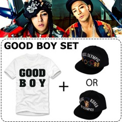 ★DAY SHIPPING★ 5% discount · GD & Taeyang collaboration ~! New song commemorating the release !! GOOD BOY snap back one   short-sleeved T-shirt GOOD BOY SET appeared ~![BIGBANG][GOODBOY]