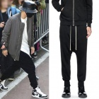★SALE★South Korea popular idol BEAST Gigu~an style! Simple black baggy pants