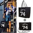 ☆ Celebrity Style ~! ☆ overseas epidemic fashion items GV * st.FAVELAS 74 Shopper Bag & Clutch Bag Set
