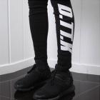 Unique items full of street sense! Point logo fashionable! D.TX2.K LOGO PRINT leggings-copy