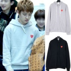 * EXO members DO wear !! Chibi heart is attached at the point HEART POINT HOODIE & ZIPUP PAKA (2TYPE, 2COLOR)