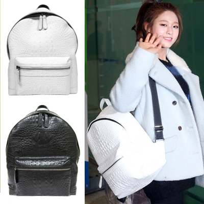 Fashion bag is loved by the Korean entertainer! Bru * st. Snake leather style RODE bag pack