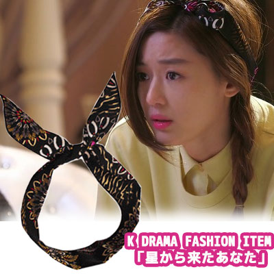 "South Korea popular drama ""came from the star you"" in Chung yee wear style! Wire cored fashion hair scarf"