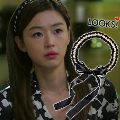 "Popular Korean drama ""came from the star you"" in cheon song-yi wear casual & Lovely item Knit chain hair band (2type / 2color)"