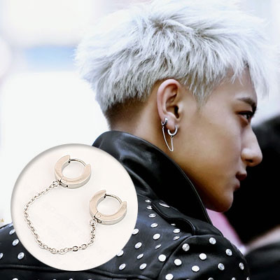 Korea popular idol EXO-style items! Unique & Simple one-touch cuffs earrings