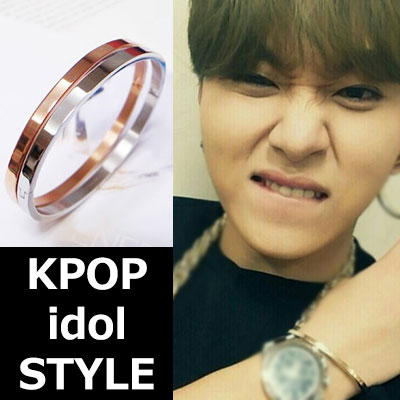 K POP idol BEAST item accessories Surgical steel simple basic Bracelet(2color)