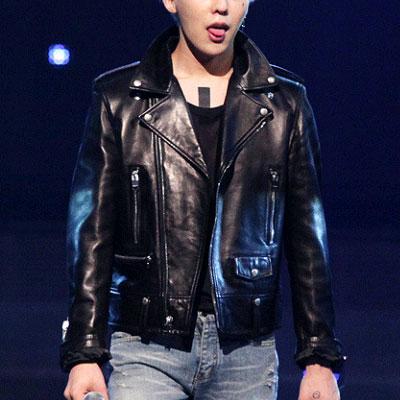 ★Women's size★EXO uichan heat, Baek Hyeon, G-Dragon, such as K-POP STAR STYLE! SIDE POCKET LETHER RIDER JACKET (S, M)