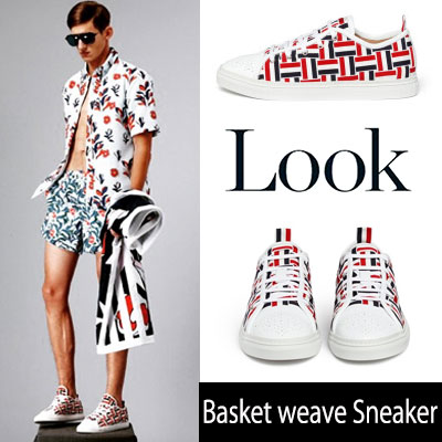 [24.5~28.0cm]International fashion style! Basket weave Sneaker Shoes