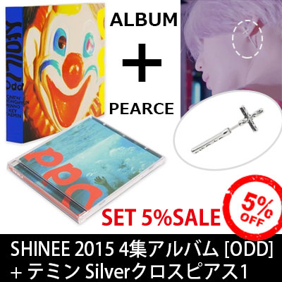 ★ 5% SET Discount Deal ★ SHINEE4 album [ODD + Taemin SILVER 1 개 cross earrings = 2 points SET Deal!