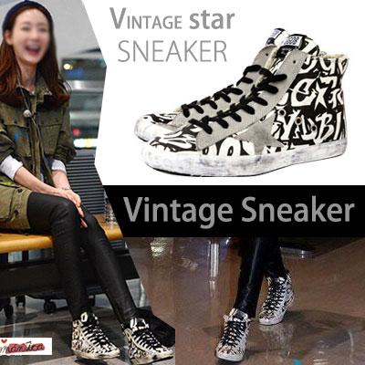 "Great vintage sneakers! 'Grandfather Over Flowers ""Choi Ji Woo STYLE HOT Item! STARSNEAKER"