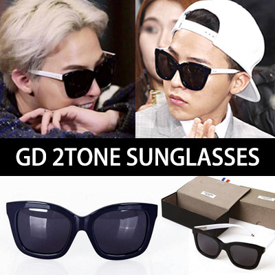 In Korea, the hot item of the famous G-DRAGON enough to tell GD sunglasses! High Quality GD SMART 2TONE SUNGLASSES