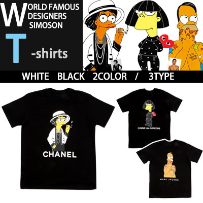 World-renowned designer collaborations X Simpson T-shirt