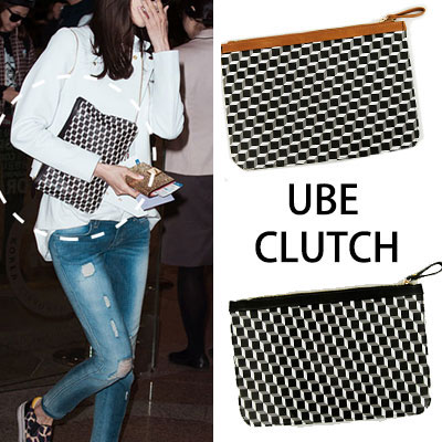 Girls' Yuna style! Popular cube clutch in the world celebrities (CUBE CLUTCH 2COLOR)