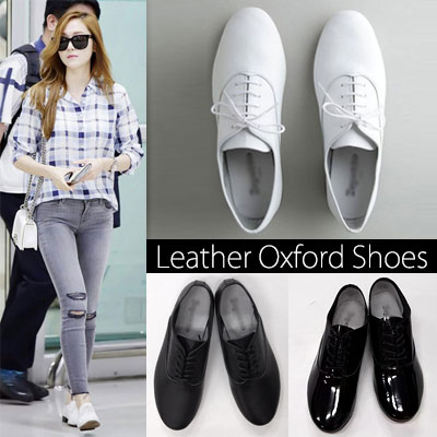 [23.0~25.5cm]SNSD Jessica, Tiffany,Hyo-yeon, Sooyoung, popular actress Shin Min Ah, Gong Hyo-jin STYLE! Leather Oxford Shoes