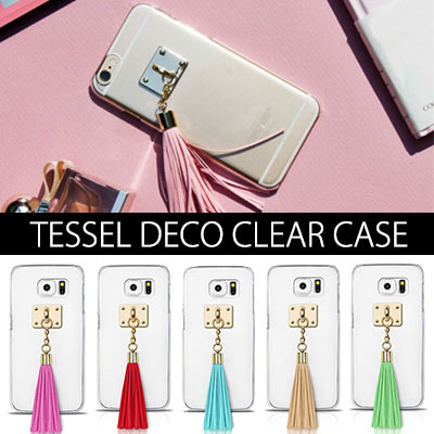 Of mature atmosphere that you can arrange your own tassel clear Phone Case TESSEL DECO CLEAR CASE