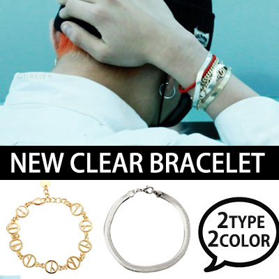 Simple and stylish ~! BIGBANG GD NEW CLEAR BRACELET Layered bracelet (GOLD, SILVER)