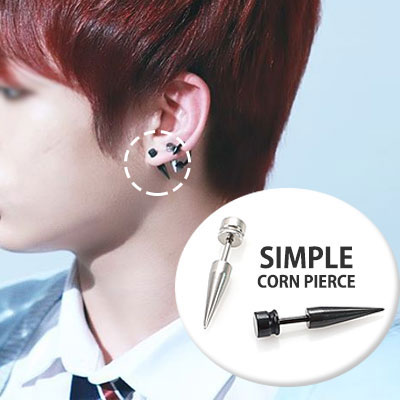 It is felt powerful energy in simple! BTS Bangtan Boys Jong Kook STYLE! Simple cone type piercing / BTS SIMPLE CORN PIERCING