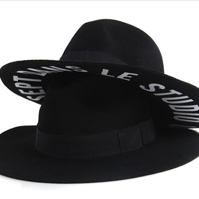 ★ FELT STUDIO-BLACK ★ simple fedora hat become a point of fall of coordination coordination - Black