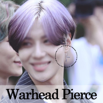 """ SHINee Temin Style "" Surgical stainless steel unique and stylish design earrings"