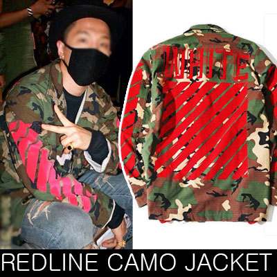 [REORDER]BIGBANG TAEYANG (SOL), SHINee Key, BEAST Hyun-seung STYLE! ! Duck Red Line embroidery patch jacket / camouflage