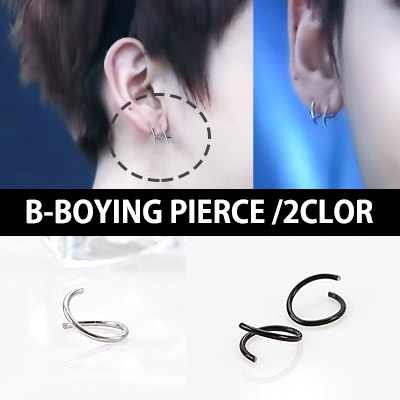 One unique B-BOYING earrings simple of popular group BTOB style