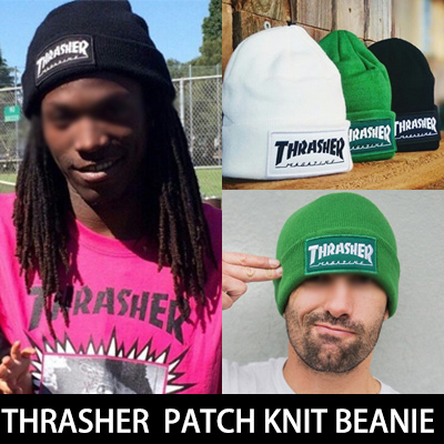 POPULAR WORLDWIDE! Thrasher logo patch Beanie (3COLORS)