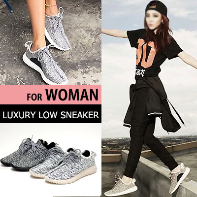 ★ for women size pickup completion ★ [23.0~24.5cm]2NE1 SANDARA, G-DRAGON, Kanye West STYLE! Ultra-popular LUXURY LOW SNEAKER (230 ~ 245mm)