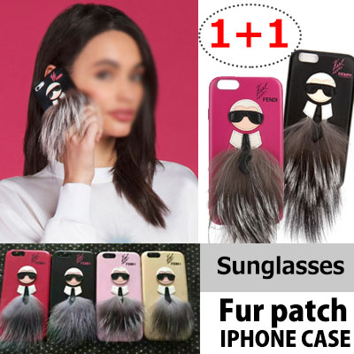 ★ 1 + 1 = 2 pieces SET ★LUXURY STYLE!SUNGLASSES MAN PATCH IPHONE CASE