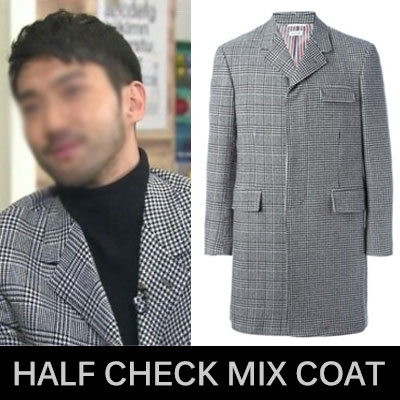 South Korean popular drama actor Super Junior Choi Si Won style in [she was beautiful]! Stylish Mick check coat