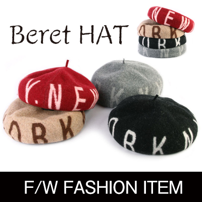 Fall fashion trends item! Alphabetic design wool beret (4color)