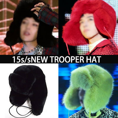 choose 5 color ★ BIGBANG [MADE] activities in plain clothes STYLE! G-dragon winter essential favorite items! NEW luxury fur TROOPER HAT