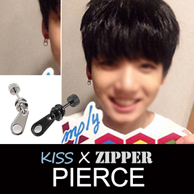 Bangtan Boys STYLE ★ Simple and charming item ~KISS ZIPPER PIERCE 1 PIECE