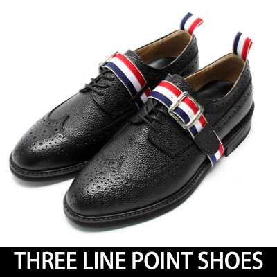 [24.5~28.0cm]High Quality ★ Three color banded belt wingtip shoes