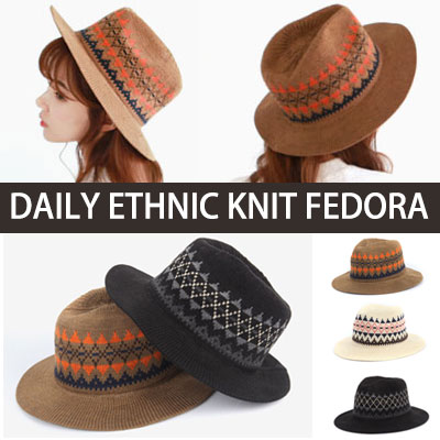 Daily Ethnic Knit Fedora