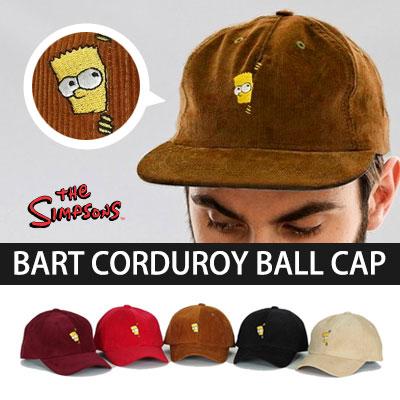 ★ to choose 5 color ★ Hide and Seek Bart Simpson corduroy ball cap