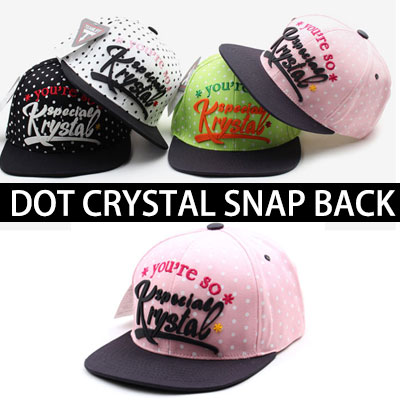 ★ choose 4 color ★DOT CRYSTAL SNAP BACK