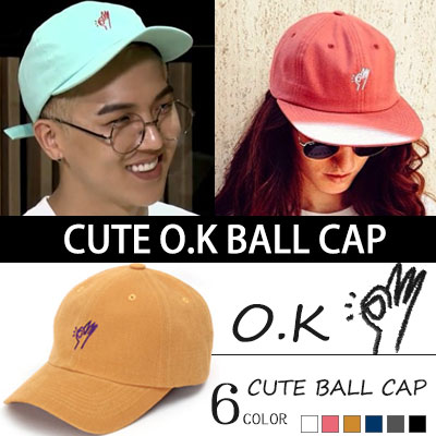 ★ to choose 6 color ★ WINNER MINO STYLE!CUTE O.K BALL CAP