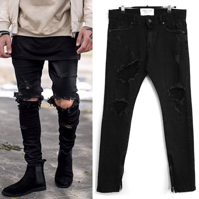 FOG ST. DEMAGE DAMAGE BLACK JEANS