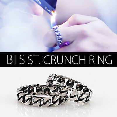 BTS MV[RUN]JIMIN STYLE!SURGICALCRUNCH RING