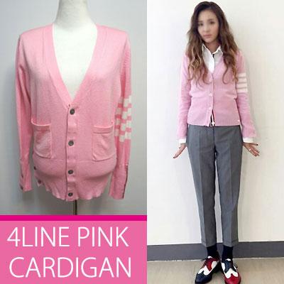 2NE1 SANDARA STYLE!!4LINE PINK CARDIGAN