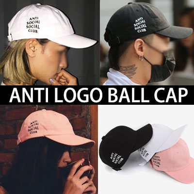 G-DRAGON AIR PORT FASHION STYLE!ANTI SOCIAL CLUB LOGO BALL CAP(3COLOR)