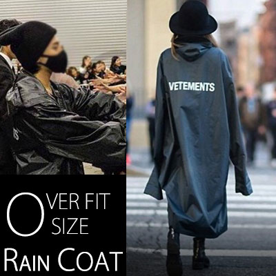 KANYE WEST ,G-DRAGON STYLE!OVER FIT SIZE RAIN COAT