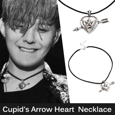 BIGBANG G-DRAGON [MADE] st,FASHION ITEMS!Cupid's Arrow Heart Pendant Necklace