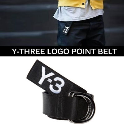 A big hit in the hip-hop star and street fashion people who like Binjino! Y-3 woven belt