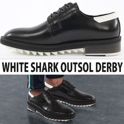 [24.5~28.0cm]Chic & Unique Style!SHARK SOL DERBY SHOES