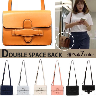 DOUBLE SPACE SQUARE SHOULDER& TOTE BACK